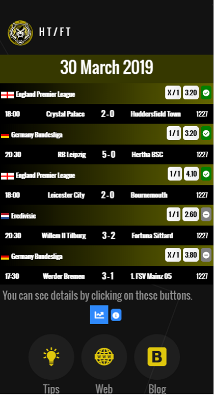 HT/FT Betting Tips