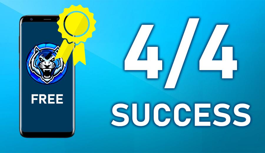 4 / 4 Success! (Free Tips)